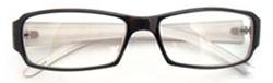 スクエア型眼鏡