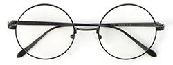 ラウンド型眼鏡